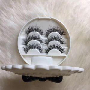 Other - White Lash Case With 3 Pairs Eyelashes